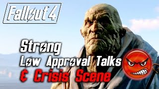 getlinkyoutube.com-Fallout 4 - Strong - All Low Approval Talks & Crisis Scene (Strong Leaves Forever)
