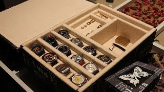 getlinkyoutube.com-AQL COMO HACER relojero o joyero para relojes.
