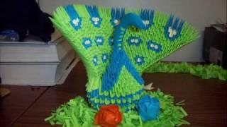 getlinkyoutube.com-Origami Peacock