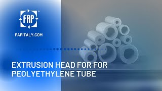 Extrusion line for tube / branch production in polyethylene PE foam