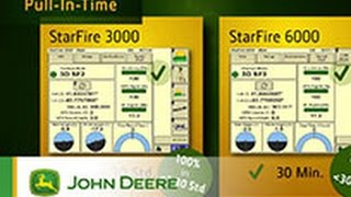 StarFire 6000 Receiver - Up to four times quicker pull-in time - John Deere