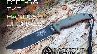 getlinkyoutube.com-ESEE-6 and TKC Handle Upgrade- Black Scout Reviews