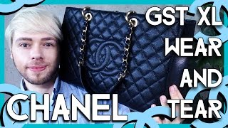 getlinkyoutube.com-CHANEL GST XL wear and tear