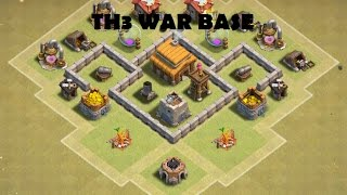 getlinkyoutube.com-Basic Base Builds - TH3 War Base