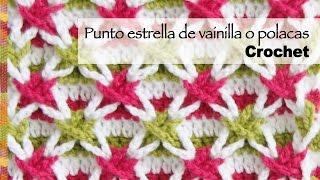 getlinkyoutube.com-Punto con estrellas de vainillas de colores o estrella polaca tejido a crochet (¡incluye diagramas!)
