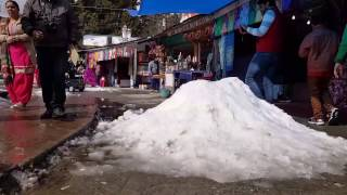 getlinkyoutube.com-Snowfall in Nainital 2017. January 9 . (After 2 days)