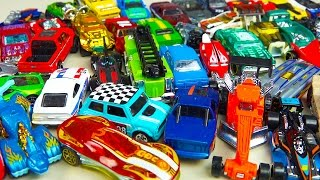getlinkyoutube.com-Hot Wheels 50 Pack Toy Cars & Trucks Surprise Box