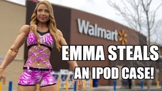 getlinkyoutube.com-WWE ACTION INSIDER: Emma STEALS From WALMART! Mattel Superstars Series 49 Wrestling Figure
