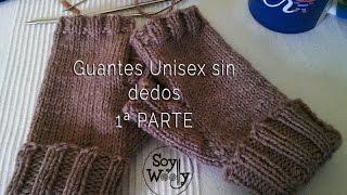 getlinkyoutube.com-Guantes Unisex sin dedos tejidos con dos agujas 1ª PARTE