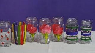 decora los frascos de vidrio