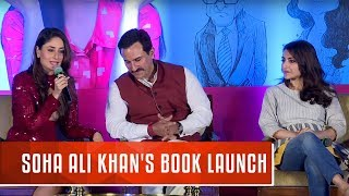 Soha Ali Khan's Book Launch | The Perils of Being Moderately Famous |  Kareena Kapoor, Saif Ali Khan width=
