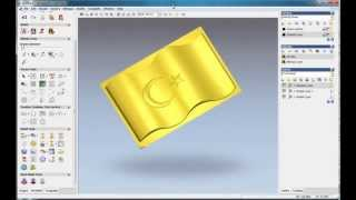 getlinkyoutube.com-How to do a flag relief in ArtCAM, ArtCAM relief tutorial