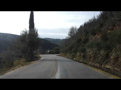 Λευκαδα η διαδρομη Καρυα-Εγκλουβη.