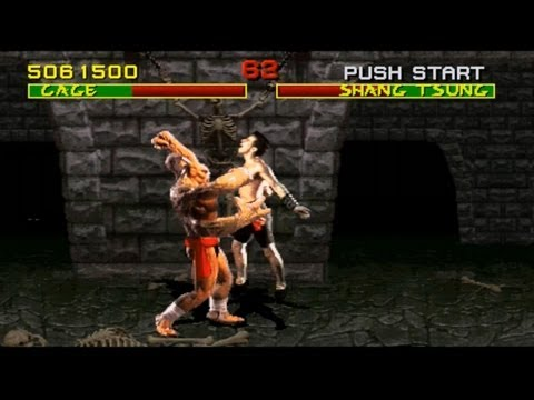 Mortal Kombat arcade kollection PC MK1 playthrough with Johnny Cage