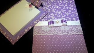 Encapando caderno com tecido - Passo a passo