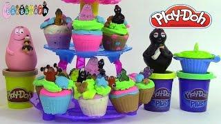 getlinkyoutube.com-Pâte à modeler play doh Tour à cupcakes Barbapapa ♥Play Doh Cupcake tower