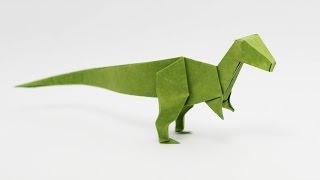 getlinkyoutube.com-Origami Velociraptor (Jo Nakashima) - Dinosaur #6