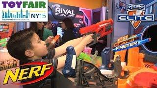 getlinkyoutube.com-NERF BLASTERS! NY Toy Fair 2015 N-Strike Elite, MEGA RotoFury, Sling Strike, Rhino-Fire, Modulus
