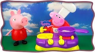getlinkyoutube.com-Большая музыкальная кухня Свинки Пеппы Весело готовить под музыку и лепить еду из пластилина  Play D
