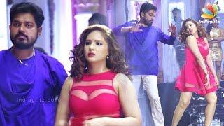 getlinkyoutube.com-During song shoot of 7 Naatkal | Sakthi Vasu, Nikesha Patel | Tamil Movie Shooting Spot