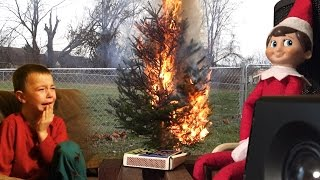 getlinkyoutube.com-ELF ON THE SHELF CHRISTMAS FIRE PRANK