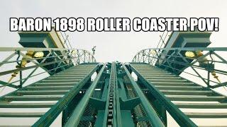 getlinkyoutube.com-Baron 1898 Roller Coaster Front Seat POV Efteling Theme Park 2015 Netherlands