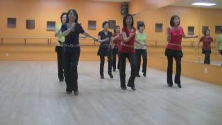 getlinkyoutube.com-Mambo Rock - Line Dance (Dance & Teach in English & 中文)