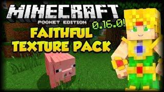 getlinkyoutube.com-Minecraft PE 0.16.0 Faithful HD Texture Pack  - Como Instalar Paquetes de Textura