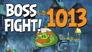 getlinkyoutube.com-Angry Birds 2 Boss Fight 143! Foreman Pig Level 1013 Walkthrough - iOS, Android