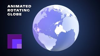 getlinkyoutube.com-Photoshop CS6 3D Animation: Rotating Transparent Earth Globe