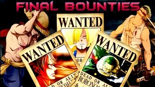 getlinkyoutube.com-Straw Hats Bounties/Wanted - At The End Of One Piece - Theory/Predictions HD