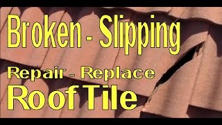 getlinkyoutube.com-Repair Replace Broken and Loose Concrete Roofing Tile