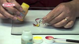 getlinkyoutube.com-Tutorial Vitrart profesional Pintura para Vidrios Profesional Artel