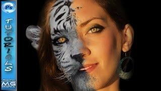 getlinkyoutube.com-Metamorfosi -da viso umano ad animale- Photoshop Tutorial italiano
