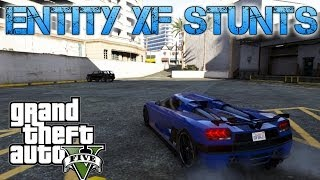 getlinkyoutube.com-Grand Theft Auto V Challenges | ENTITY XF STUNT JUMPS | FASTEST CAR IN THE GAME?
