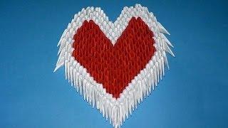 getlinkyoutube.com-3D origami heart valentine Variant 3 tutorial (instruction)