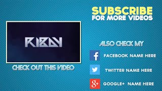 getlinkyoutube.com-FREE Amazing Outro Template #7 (Easy to edit)