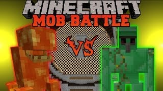 getlinkyoutube.com-LAVA MONSTER VS. EMERALD GOLEM - Minecraft Mob Battles - Golem World and Lava Monster Mods
