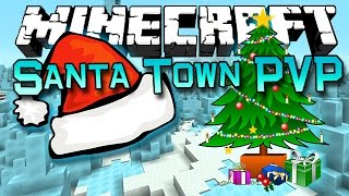 getlinkyoutube.com-Minecraft: Santa Town PVP Challenge! with The Pack & Bajan Canadian!