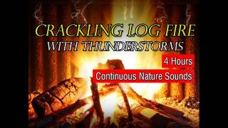 getlinkyoutube.com-Crackling Log Fire with Thunderstorm, Wind and Rain