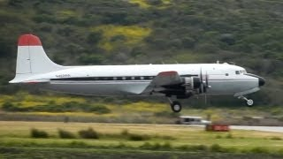 getlinkyoutube.com-Douglas C-54E (DC-4) Departing & Arriving HAF