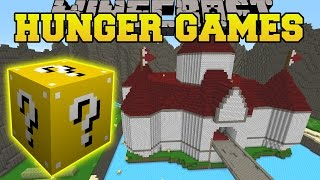 getlinkyoutube.com-Minecraft: PRINCESS PEACH CASTLE HUNGER GAMES - Lucky Block Mod - Modded Mini-Game