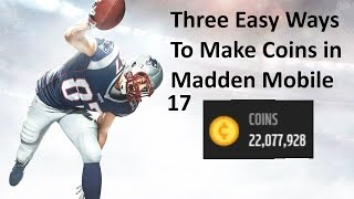 getlinkyoutube.com-3 Easy Ways to Make Money in Madden Mobile 17