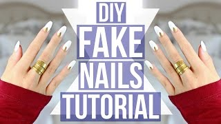 getlinkyoutube.com-DIY: EASY Fake Nails Tutorial!