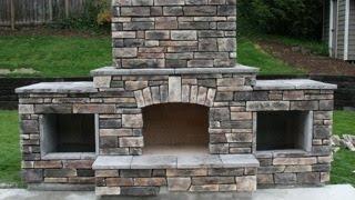 getlinkyoutube.com-DIY - Building an outdoor fireplace