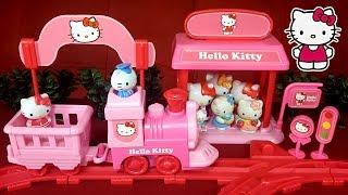 getlinkyoutube.com-Паровозик Hello Kitty. Hello Kitty Express Train обзор + мультик с игрушками.