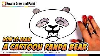 getlinkyoutube.com-How to Draw a Panda Bear Face Cartoon Step by Step - Cute Panda Bear Drawing | CC
