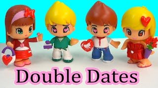 getlinkyoutube.com-Pinypon Valentines Double Date Playset Doll Sets Toy Unboxing Review Cookieswirlc