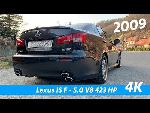 Lexus IS-F 2009 quick exterior look in 4K   V8 exhaust sound!
