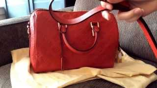 getlinkyoutube.com-Louis Vuitton Speedy 30 Bandouliere Empreinte Review